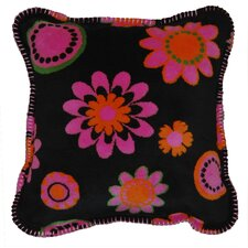 Acrylic / Polyester Bold Flowers Pillow