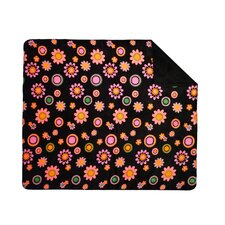 Acrylic Bold Flowers Double-Sided Throw
