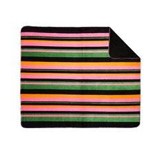 <strong>Denali Throws</strong> Acrylic Bold Stripe Double-Sided Throw