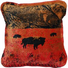 Acrylic / Polyester Roaming Buffalo Pillow