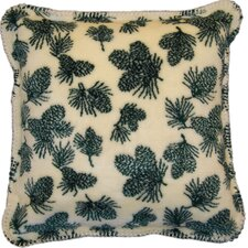 Acrylic / Polyester Winter Cones Pillow