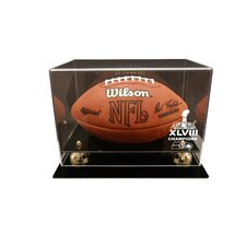 Seattle Seahawks Super Bowl 48 Champions Deluxe Football Display Case