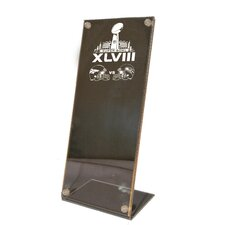 Dueling Super Bowl 48 Clear Stand Up Ticket Holder