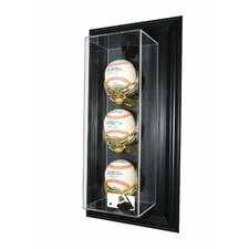 "MLB Logo 3 Baseball ""Case-Up"" Display"
