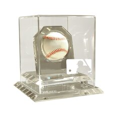 MLB Logo Museum Edition All Clear Baseball Display