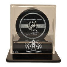 "NHL 4.25"" Single Hockey Puck Display Case"