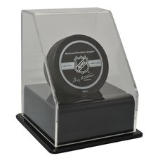 Single Hockey Puck Display Case