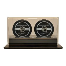 Double Hockey Puck Display Case