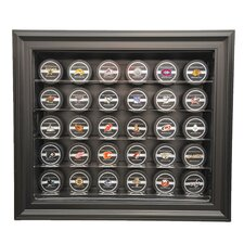 <strong>Caseworks International</strong> Thirty Puck Display Case in Brown