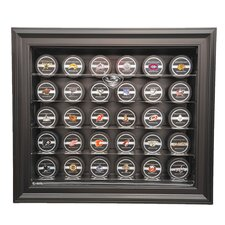 <strong>Caseworks International</strong> NHL Thirty Puck Cabinet Style Display Case in Black