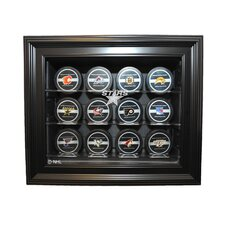 NHL Twelve Puck Cabinet Style Display Case in Black