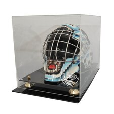 <strong>Caseworks International</strong> NHL Goalie Mask Display Case with Gold Risers