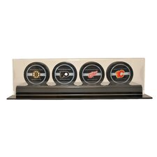 Four Puck Display Case
