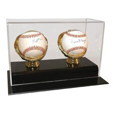 Two Baseball Gold Glove Display Case