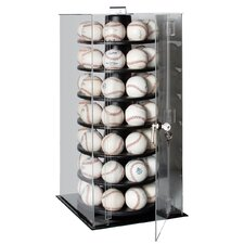 <strong>Caseworks International</strong> Fifty Six Baseball Rotating Display Case