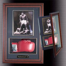 Boxing Glove and Photo Shadow Box Framed Memorabilia Plaque