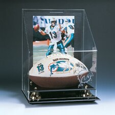 "<strong>Caseworks International</strong> 8"" x10"" Football and Photo Display Case"