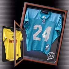"<strong>Caseworks International</strong> 6.875"" Cabinet Style Medium Jersey Display in Brown"