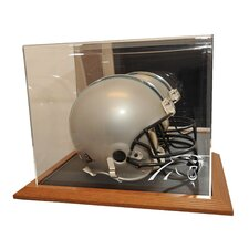 <strong>Caseworks International</strong> Simulated Oak Wood Base Helmet Display Case