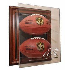 "Three Football ""Case-Up"" Display"