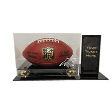 Deluxe Football Display with Ticket Holder