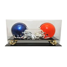 <strong>Caseworks International</strong> Double Mini Helmet Display with Gold Risers