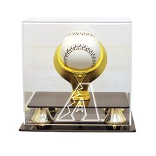<strong>Caseworks International</strong> MLB Gold Ring Single Baseball Display