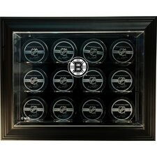 "NHL Twelve Puck ""Case-Up"" Logo Display Case"