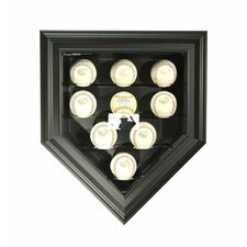 MLB Logo 9 Baseball Home Plate Display