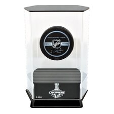 Chicago Blackhawks Stanley Cup Champions Floating Hockey Puck Display