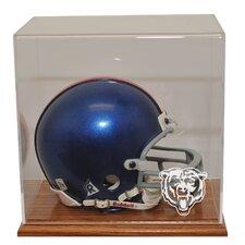 Mini Helmet Display in Wood finish