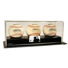 MLB Logo Triple Baseball Display