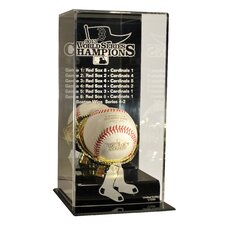 Limited Edition '13 Red Sox World Series Champs High Rise Baseball Display WITH WS BASEBALL