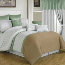 <strong>Lavish Home</strong> Elizabeth 24 Piece Bed in a Bag Set