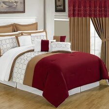 <strong>Lavish Home</strong> Sarah 24 Piece Bed in a Bag Set