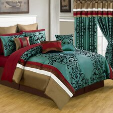 <strong>Lavish Home</strong> Eve 24 Piece Bed in a Bag Set