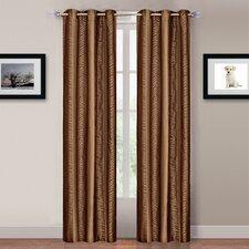 Bronze Tiger Grommet Curtain Panel (Set of 2)
