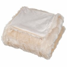Long-Haired Faux Fur 100% Polyester Throw