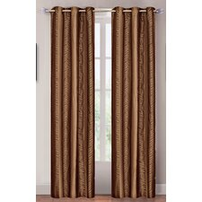 <strong>Lavish Home</strong> Bronze Tiger Grommet Curtain Panel (Set of 2)