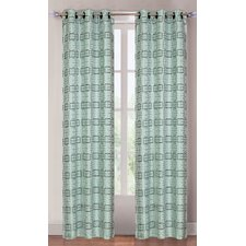 <strong>Lavish Home</strong> Celadon Squares Grommet Curtain Panel (Set of 2)
