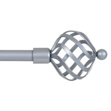 Twisted Sphere Curtain Single Rod