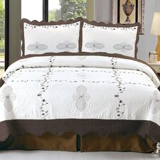 Athena Embroidered Quilt Set