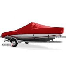 WindStorm V-Hull Center Console Fishing Boat Cover with High Bow Rails