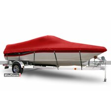 WindStorm V-Hull Runabout Boat Cover with Walk-Thru Transom/Windshield and Rails