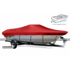 WindStorm Tri-Hull Runabout Outboard Boat Cover with Windshield