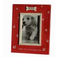 """When All Else Fails Hug The Dog""  Picture Frame"