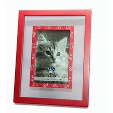 Glass Inlay with White Fish Bones Picture Frame