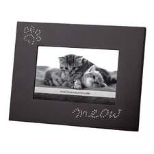 Home Meow and Pawprints Picture Frame