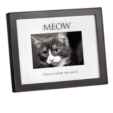 "Home Shadowbox ""Home is Where the Cat is"" Picture Frame"