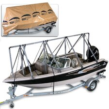 14 to 18½ ft Storage System Fishing-Runabout with Tarpaulin Cover